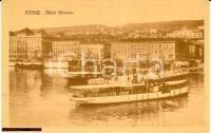 1920 ca FIUME (Istria) Veduta del MOLO STOCCO fp nv