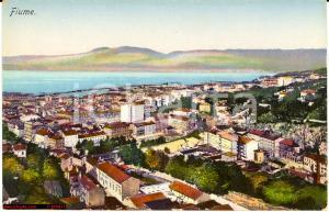 Fiume anni '30 - Croatia Croazia *Vedutina colorata NV