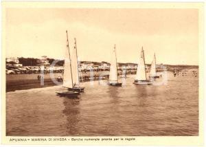 1942 MARINA DI MASSA (MS) Barche pronte per regata FG