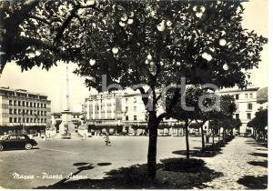 1969 MASSA Veduta di Piazza ARANCI Cartolina ANIMATA FG