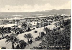 1958 MARINA DI MASSA (MS) Spiaggia e via litoranea FG