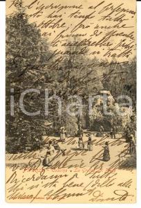 1900 FIRENZE Parco delle CASCINE Grotta del frate *Cartolina FP VG