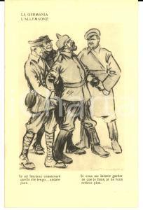 1917 WW1 SATIRA DI GUERRA La Germania - Guglielmo II sconfitto FP NV
