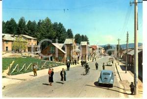 1958 CAMIGLIATELLO SILANO (CS) Panorama con auto d'epoca *Cartolina FG VG