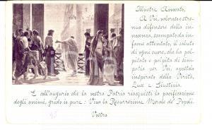 1900 Avv. Fernand LABORI Viva la Resurrezione dei Popoli *Cartolina PASQUA