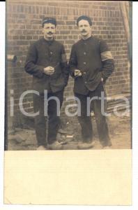 1918 WW1 SAINT-ETIENNE LOIRE (F) Ritratto soldato GUIBLIN con sigaretta *Foto