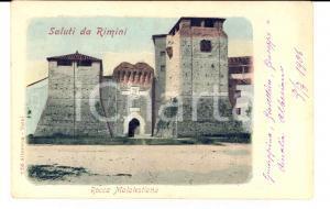 1906 RIMINI Veduta con la ROCCA MALATESTIANA *Cartolina FP NV
