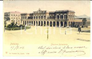 1902 PALERMO Stazione ferroviaria *Cartolina F. CRESCIMANNA FP VG