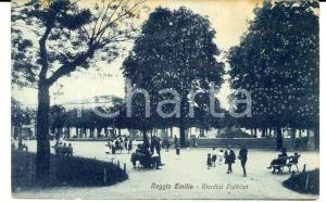 1910 ca REGGIO EMILIA Veduta dei giardini pubblici *Cartolina ANIMATA FP NV