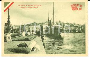 1920 TRIESTE NUOVA ITALIA REDENTA - Molo San Carlo *Cartolina FP NV