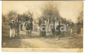 1912 GUERRA BALCANICA ALBANIA Esploratori MALISSORI *Cartolina FP NV