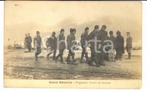 1912 GUERRA BALCANICA ALBANIA Prigionieri turchi ad ANTIVARI *Cartolina FP NV