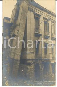 1915 ca MESSINA Avanzi palazzo DE VITA su Hotel TRINACRIA dopo terremoto 1908