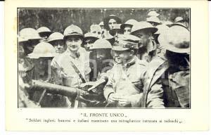 1915 ca WW1 MILANO Istituto Italo-Britannico - Il Fronte Unico *Cartolina FP NV