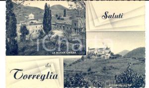 1930 ca TORREGLIA (PD) Vedutine con nuova chiesa e CASTELLETTO *Cartolina FP NV