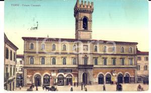 1927 TERNI Veduta Palazzo Comunale con insegna ROMEO CONTI *Cartolina FP VG