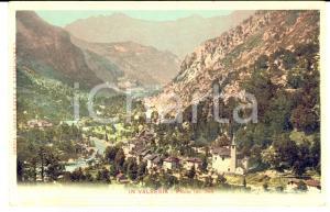1900 ca PIODE (VC) Veduta panoramica sullo sfondo della VALSESIA Cartolina FP NV