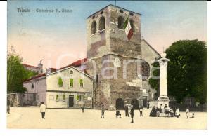 1920 TRIESTE Cattedrale di SAN GIUSTO espone il tricolore *Cartolina FP VG