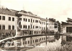 1960 ABANO TERME (PD) Stabilimento termale SAVOIA TODESCHINI *Cartolina FG VG