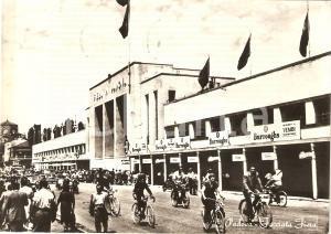 1958 PADOVA alla FIERA in bicicletta Sponsor ESSO Animata *Cartolina FG VG
