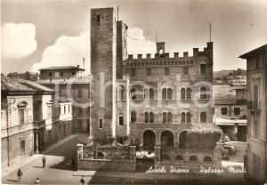 1960 ASCOLI PICENO Scorcio panoramico Palazzo MERLI Animata *Cartolina FG VG