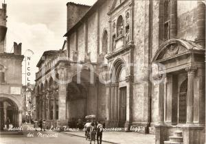 1954 ASCOLI PICENO Tempio di SAN FRANCESCO Loggia dei MERCANTI *Cartolina FG VG
