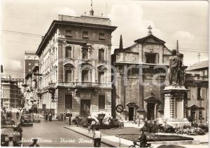 1961 ASCOLI PICENO Panorama Piazza Roma BANCO DI ROMA Animata *Cartolina FG VG