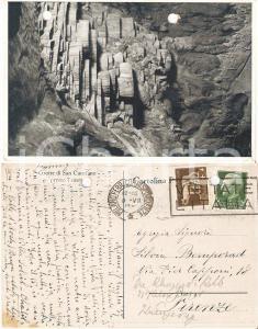 1937 TRIESTE Grotte di San Canziano *Cartolina a Silvia BEMPORAD