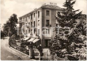 1950 ABANO TERME (PD) Stabilimento Termale HOTEL SALUS Cartolina Animata FG VG