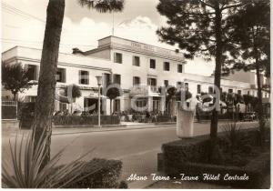 1963 ABANO TERME (PD) Terme HOTEL CENTRALE Cartolina animata FG VG