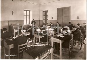 1950 ca ROMAGNANO SESIA (NO) COLLEGIO CONVITTO CURIONI Aula studio FG NV