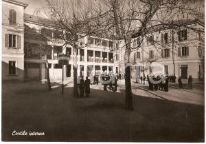 1950 ca ROMAGNANO SESIA (NO) COLLEGIO CONVITTO CURIONI Cortile Interno FG NV
