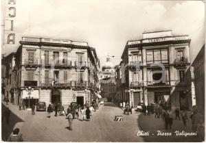 1958 CHIETI Piazza Valignani Acqua SANGEMINI *Cartolina animata FG VG
