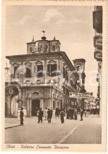1940 ca CHIETI Palazzo Comando Divisione Striscione FIERA DEL LEVANTE FG NV