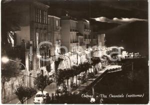 1964 ORTONA (CH) Notturno VIA ORIENTALE *Cartolina animata FG VG