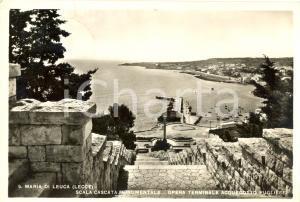 1961 SANTA MARIA DI LEUCA (LE) Scala cascata monumentale *Cartolina FG VG