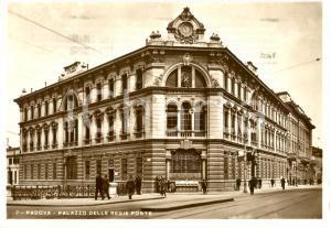 1938 PADOVA (PD) Palazzo delle Regie Poste *Cartolina ANIMATA FG VG