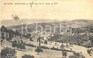 1929 ROVERE' VERONESE (VR) Panorama visto da SAN VITALE *Cartolina postale FP VG