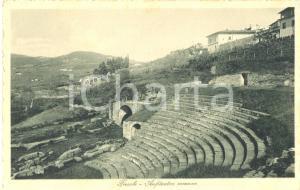 1930 ca FIESOLE (FI) Veduta dell'ANFITETARO ROMANO *Cartolina animata FP NV