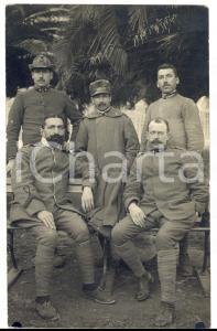 1918 WW1 GENOVA Ospedale militare - Giovanni COLOMBI posa con altri ricoverati