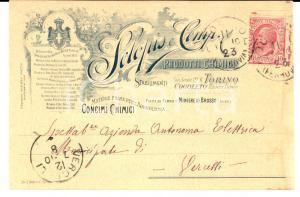 1910 TORINO Prodotti chimici SCLOPIS & Co. *Cartolina postale INTESTATA FP VG