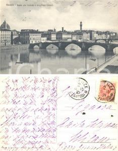 1910 FIRENZE Ponte alla Carraia *Cartolina ad Anita MAURO MAGNANI FP VG