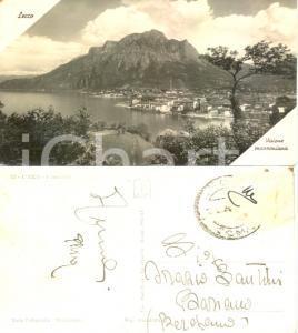 1942 LECCO Visione manzoniana *Cartolina a Orazio SANTINI scrittore BERGAMO