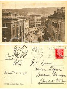 1930 TRIESTE Piazza Goldoni *Cartolina alla pittrice Teresa PAGANI FP VG