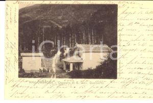 1904 VALLOMBROSA Cappella San Giovanni Gualberto *Cartolina a Elvire DAPPLES
