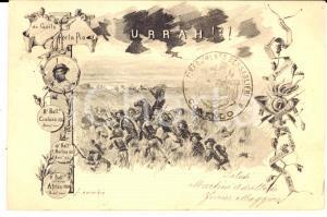 1900 ca MILANO 1° Reggimento BERSAGLIERI Comando *Cartolina Adalberto MARTINI