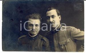 1919 BOLOGNA Prof. FREDA con alunno mutilato PAPARELLA *Cartolina a Elena FREDA