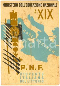 1941 NAPOLI Pagella Vincenzo TROISE Scuola B. QUARANTA