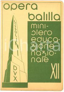 1934 OPERA BALILLA Pagella alunno Pasquale TORRES