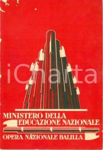 1930 BERGAMO Pagella Marcello MILESI Scuola elementare maschile